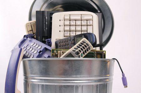 פסולת אלקטרונית בבית ובענף המסחר